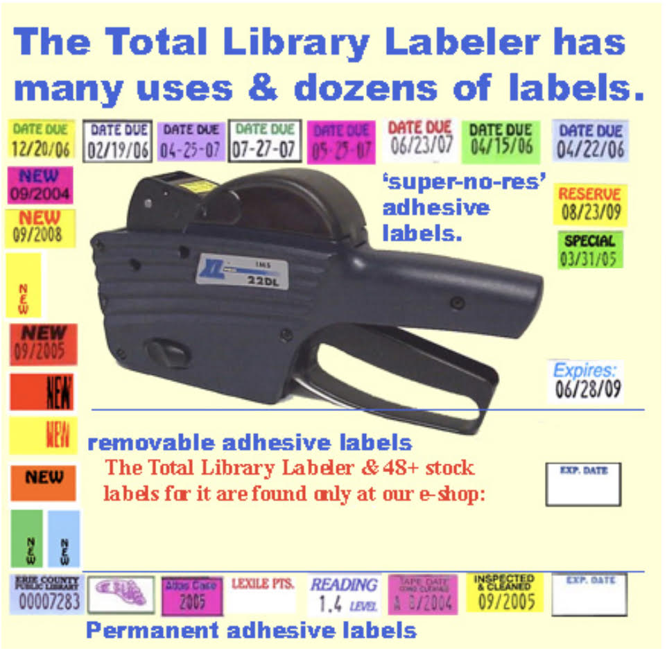 TXM22-8(L) Total Library Labeler assists with 20+ common library tasks